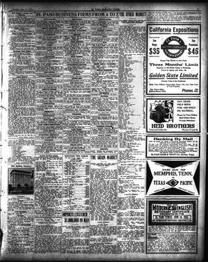 El Paso Morning Times El Paso Tex Vol 35th Year Ed 1 Tuesday June 15 1915 Page 10 Of 12 The Portal To Texas History