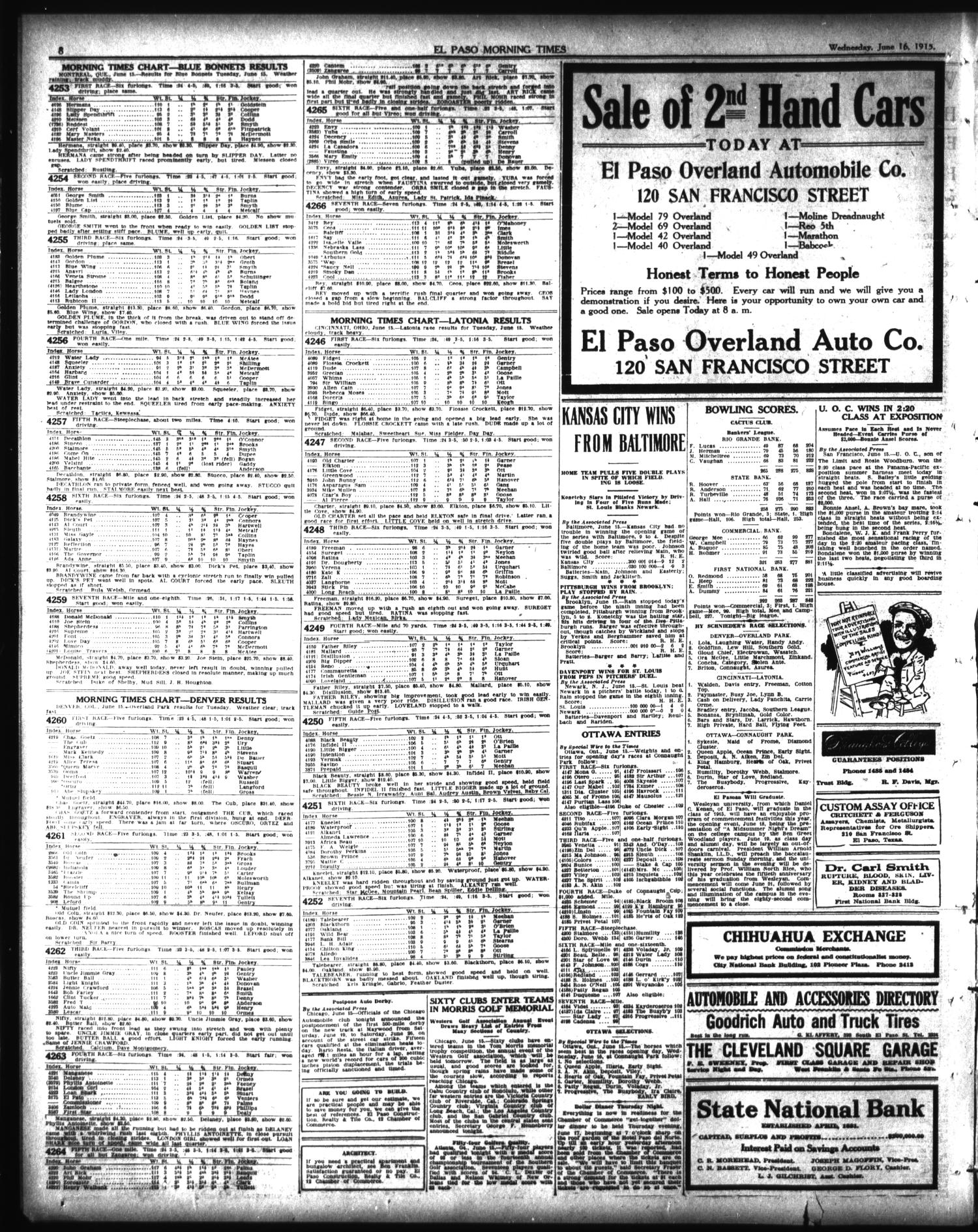 El Paso Morning Times (El Paso, Tex ), Vol  35TH YEAR, Ed  1