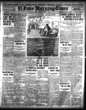 Primary view of object titled 'El Paso Morning Times (El Paso, Tex.), Vol. 35TH YEAR, Ed. 1, Thursday, June 17, 1915'.