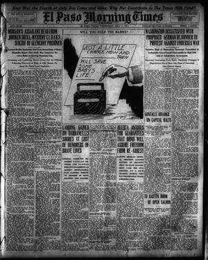 Primary view of object titled 'El Paso Morning Times (El Paso, Tex.), Vol. 35TH YEAR, Ed. 1, Wednesday, July 7, 1915'.