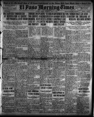 Primary view of object titled 'El Paso Morning Times (El Paso, Tex.), Vol. 35TH YEAR, Ed. 1, Thursday, July 8, 1915'.