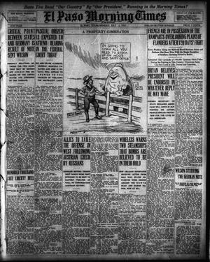 Primary view of object titled 'El Paso Morning Times (El Paso, Tex.), Vol. 35TH YEAR, Ed. 1, Monday, July 12, 1915'.