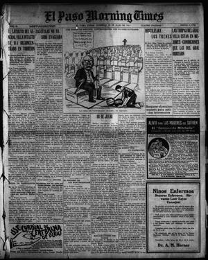Primary view of object titled 'El Paso Morning Times (El Paso, Tex.), Vol. 35TH YEAR, Ed. 1, Sunday, July 18, 1915'.