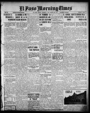 Primary view of object titled 'El Paso Morning Times (El Paso, Tex.), Vol. 35TH YEAR, Ed. 1, Friday, August 13, 1915'.
