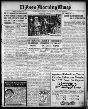 Primary view of object titled 'El Paso Morning Times (El Paso, Tex.), Vol. 35TH YEAR, Ed. 1, Sunday, August 15, 1915'.