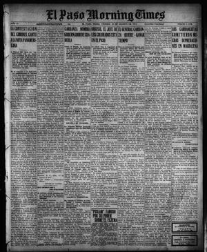 Primary view of object titled 'El Paso Morning Times (El Paso, Tex.), Vol. 35TH YEAR, Ed. 1, Friday, August 27, 1915'.