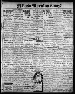 Primary view of object titled 'El Paso Morning Times (El Paso, Tex.), Vol. 36TH YEAR, Ed. 1, Wednesday, September 8, 1915'.