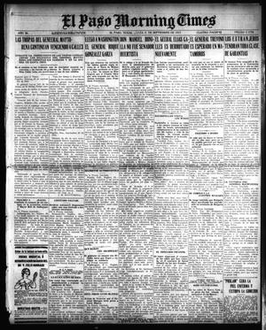 Primary view of object titled 'El Paso Morning Times (El Paso, Tex.), Vol. 36TH YEAR, Ed. 1, Tuesday, September 21, 1915'.