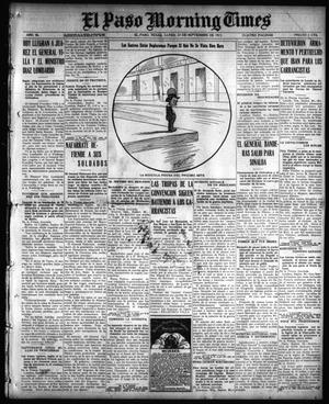 Primary view of object titled 'El Paso Morning Times (El Paso, Tex.), Vol. 36TH YEAR, Ed. 1, Monday, September 27, 1915'.
