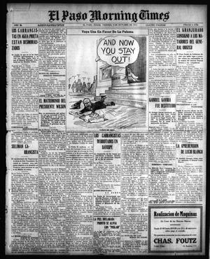 Primary view of object titled 'El Paso Morning Times (El Paso, Tex.), Vol. 36TH YEAR, Ed. 1, Friday, October 8, 1915'.