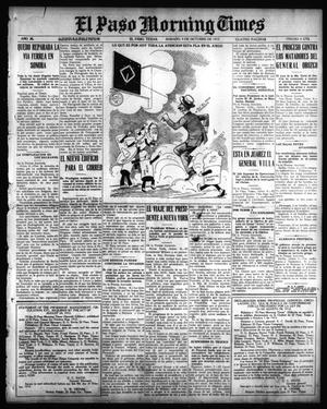 Primary view of object titled 'El Paso Morning Times (El Paso, Tex.), Vol. 36TH YEAR, Ed. 1, Saturday, October 9, 1915'.