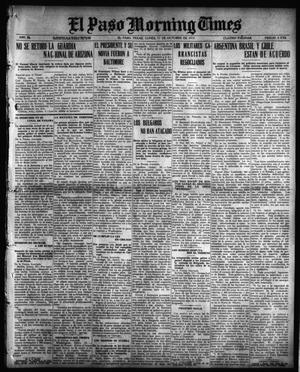 Primary view of object titled 'El Paso Morning Times (El Paso, Tex.), Vol. 36TH YEAR, Ed. 1, Monday, October 11, 1915'.