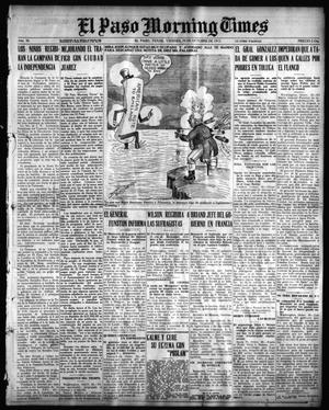 Primary view of object titled 'El Paso Morning Times (El Paso, Tex.), Vol. 36TH YEAR, Ed. 1, Friday, October 29, 1915'.