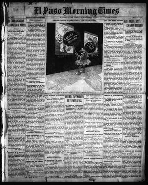 Primary view of object titled 'El Paso Morning Times (El Paso, Tex.), Vol. 36TH YEAR, Ed. 1, Monday, November 1, 1915'.