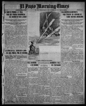 Primary view of object titled 'El Paso Morning Times (El Paso, Tex.), Vol. 36TH YEAR, Ed. 1, Saturday, November 6, 1915'.
