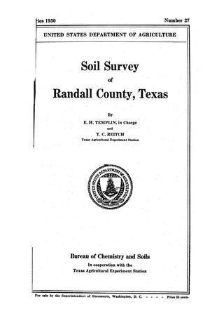 Primary view of object titled 'Soil survey of Randall County, Texas'.