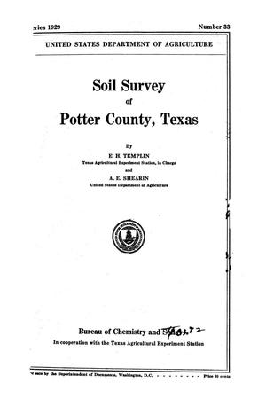 Primary view of object titled 'Soil Survey of Potter County, Texas'.