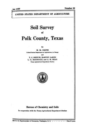 Primary view of object titled 'Soil survey of Polk County, Texas'.