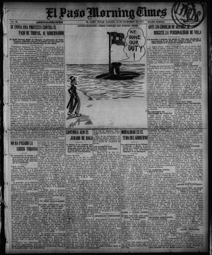 Primary view of object titled 'El Paso Morning Times (El Paso, Tex.), Vol. 36TH YEAR, Ed. 1, Saturday, December 18, 1915'.