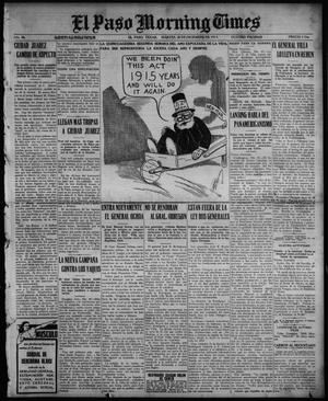 Primary view of object titled 'El Paso Morning Times (El Paso, Tex.), Vol. 36TH YEAR, Ed. 1, Tuesday, December 28, 1915'.