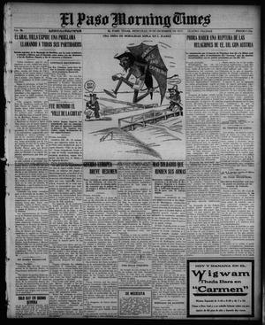 Primary view of object titled 'El Paso Morning Times (El Paso, Tex.), Vol. 36TH YEAR, Ed. 1, Wednesday, December 29, 1915'.