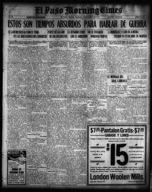 Primary view of object titled 'El Paso Morning Times (El Paso, Tex.), Vol. 36TH YEAR, Ed. 1, Saturday, January 15, 1916'.