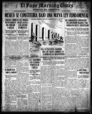 Primary view of object titled 'El Paso Morning Times (El Paso, Tex.), Vol. 36TH YEAR, Ed. 1, Sunday, February 6, 1916'.