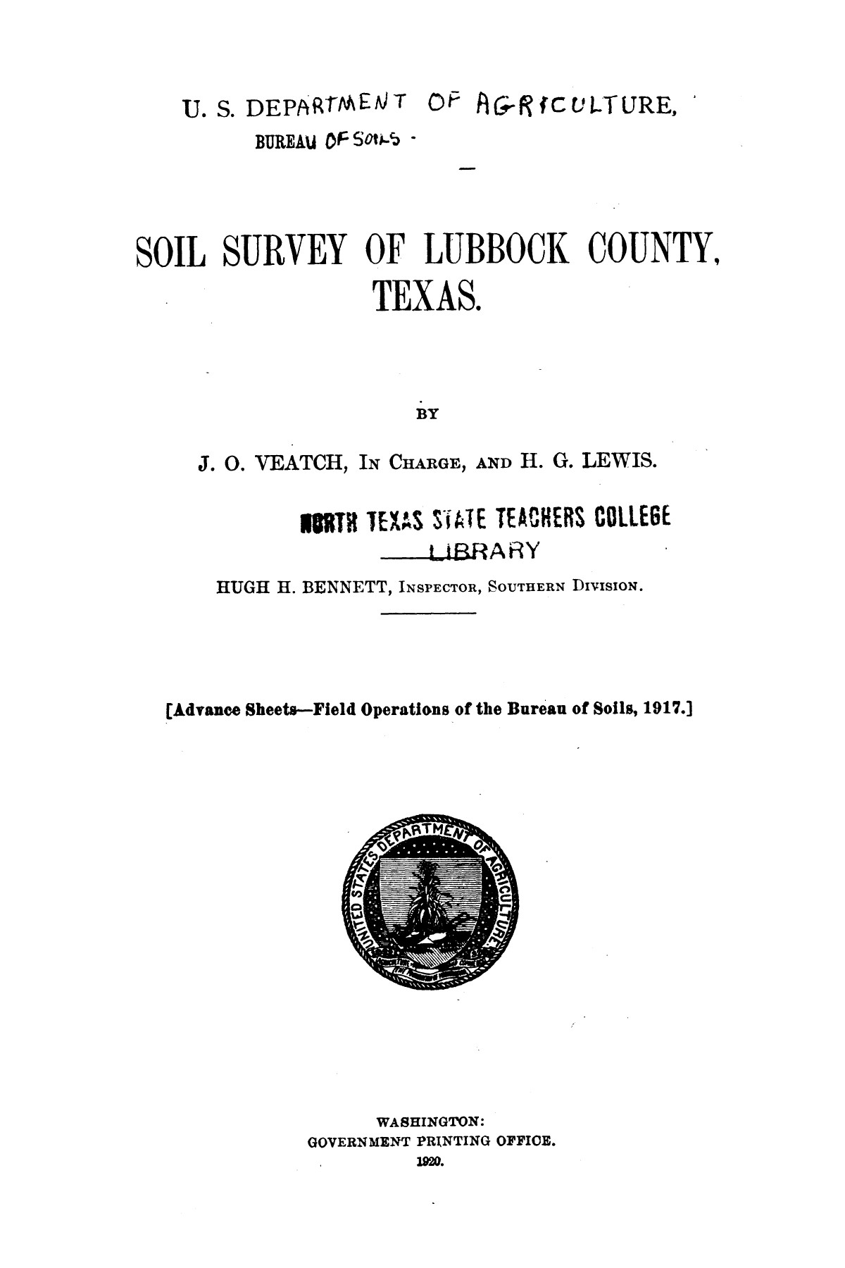 Soil survey of Lubbock County, Texas                                                                                                      [Sequence #]: 1 of 38