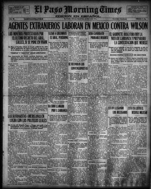 Primary view of object titled 'El Paso Morning Times (El Paso, Tex.), Vol. 36TH YEAR, Ed. 1, Tuesday, June 6, 1916'.