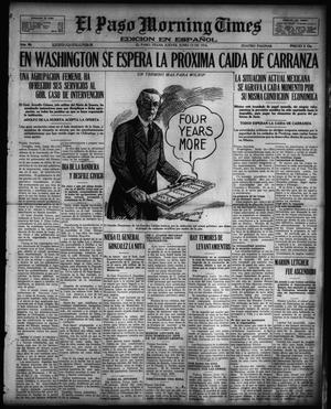 Primary view of object titled 'El Paso Morning Times (El Paso, Tex.), Vol. 36TH YEAR, Ed. 1, Thursday, June 15, 1916'.