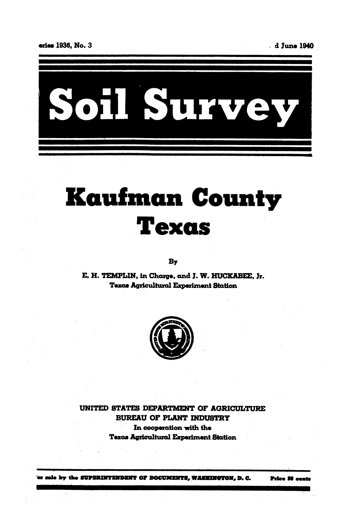 Soil survey, Kaufman County, Texas                                                                                                      [Sequence #]: 1 of 80