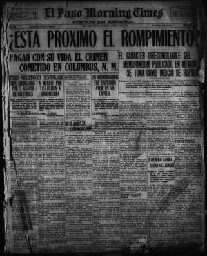 Primary view of object titled 'El Paso Morning Times (El Paso, Tex.), Vol. 36TH YEAR, Ed. 1, Saturday, July 1, 1916'.