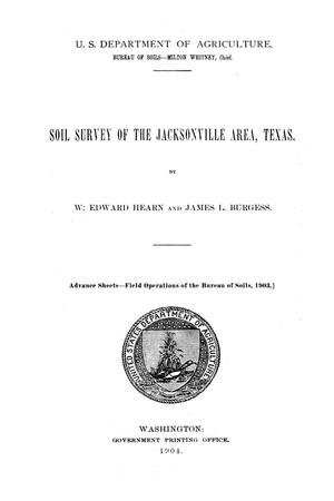 Primary view of object titled 'Soil survey of the Jacksonville area, Texas'.