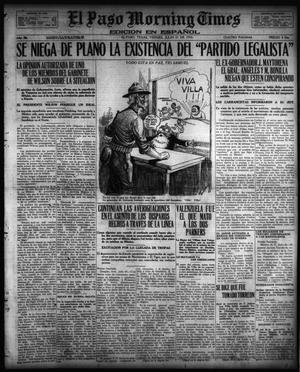 Primary view of object titled 'El Paso Morning Times (El Paso, Tex.), Vol. 36TH YEAR, Ed. 1, Friday, July 21, 1916'.