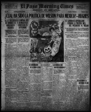 Primary view of object titled 'El Paso Morning Times (El Paso, Tex.), Vol. 36TH YEAR, Ed. 1, Tuesday, August 8, 1916'.