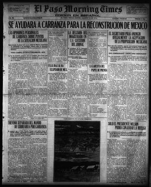 Primary view of object titled 'El Paso Morning Times (El Paso, Tex.), Vol. 36TH YEAR, Ed. 1, Thursday, August 10, 1916'.
