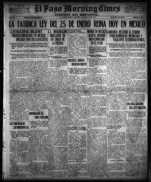 Primary view of object titled 'El Paso Morning Times (El Paso, Tex.), Vol. 36TH YEAR, Ed. 1, Friday, August 11, 1916'.