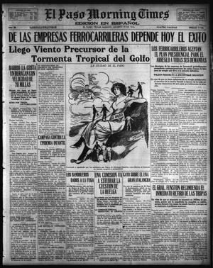 Primary view of object titled 'El Paso Morning Times (El Paso, Tex.), Vol. 36TH YEAR, Ed. 1, Saturday, August 19, 1916'.