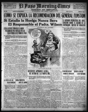Primary view of object titled 'El Paso Morning Times (El Paso, Tex.), Vol. 36TH YEAR, Ed. 1, Sunday, August 20, 1916'.