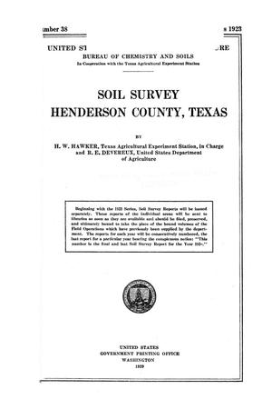 Primary view of object titled 'Soil survey, Henderson County, Texas'.