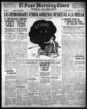 Primary view of object titled 'El Paso Morning Times (El Paso, Tex.), Vol. 36TH YEAR, Ed. 1, Tuesday, August 29, 1916'.