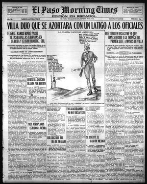 Primary view of object titled 'El Paso Morning Times (El Paso, Tex.), Vol. 36TH YEAR, Ed. 1, Saturday, September 30, 1916'.