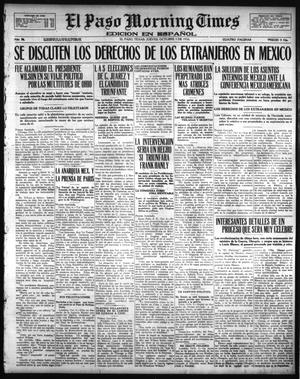 Primary view of object titled 'El Paso Morning Times (El Paso, Tex.), Vol. 36TH YEAR, Ed. 1, Thursday, October 5, 1916'.