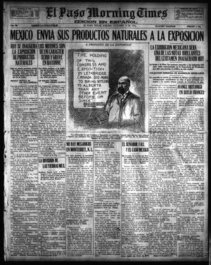 Primary view of object titled 'El Paso Morning Times (El Paso, Tex.), Vol. 36TH YEAR, Ed. 1, Saturday, October 14, 1916'.