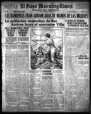 Primary view of object titled 'El Paso Morning Times (El Paso, Tex.), Vol. 36TH YEAR, Ed. 1, Friday, October 20, 1916'.