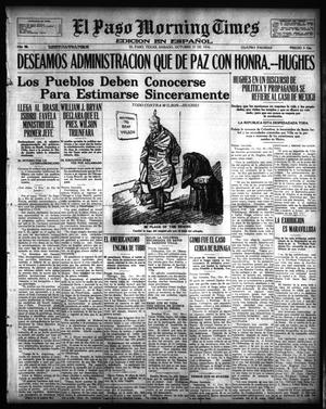 Primary view of object titled 'El Paso Morning Times (El Paso, Tex.), Vol. 36TH YEAR, Ed. 1, Saturday, October 21, 1916'.