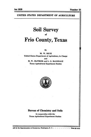 Primary view of object titled 'Soil survey of Frio County, Texas'.
