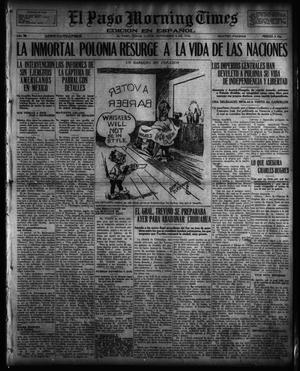 Primary view of object titled 'El Paso Morning Times (El Paso, Tex.), Vol. 36TH YEAR, Ed. 1, Monday, November 6, 1916'.