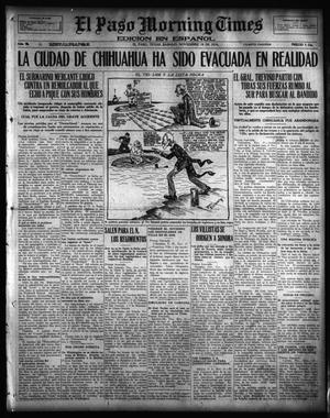 Primary view of object titled 'El Paso Morning Times (El Paso, Tex.), Vol. 36TH YEAR, Ed. 1, Saturday, November 18, 1916'.
