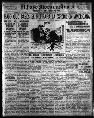 Primary view of object titled 'El Paso Morning Times (El Paso, Tex.), Vol. 36TH YEAR, Ed. 1, Tuesday, November 21, 1916'.
